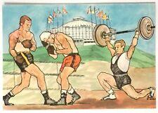 Cartolina Illustrata XVII Olimpiade Roma 1960 - Pugilato E Sollevamento Pesi