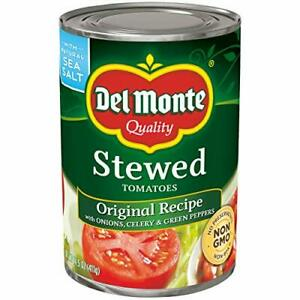 Del Monte Canned Stewed Original Recipe Tomatoes, 14.5-Ounce