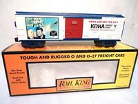 MTH Rail King # 30-74464 KDKA - 1960's Covers the 60's  O gauge  Box Car-ln wbox