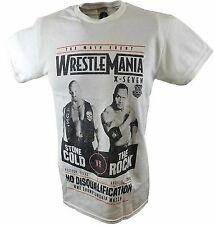 Wrestlemania 17 Rock vs Stone Cold Steve Austin WWE Mens White T-shirt