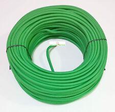 Cavo elettrico ricoperto in tessuto colorato Verde 2x0,75 matassa 10 metri