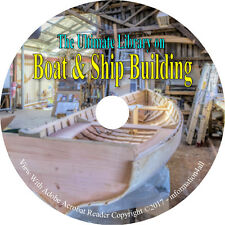 26 Books on CD, Ultimate Library on Boat & Ship Building Wooden Canoe Home-made