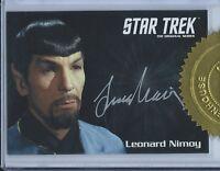 STAR TREK TOS 50th ANNIVERSARY AUTOGRAPH CARD MIRROR SPOCK LEONARD NIMOY