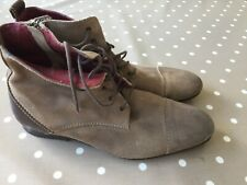 Suede Ankle Boots Lace Up Mens Brown Taupe 43 Poste With Zip