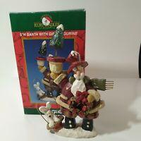 "Vintage Kurt Adler Snowtown Santa Claus Figure 6"" Christmas Village Figurine"