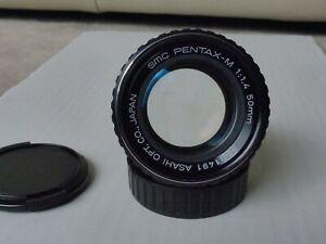 "Asahi Pentax-M SMC 1:1.4/50mm mit Pentax K PK Bajonett Filtergew. 49mm""sehr gut"""