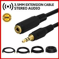 3.5mm Audio Extension Cable Stereo Headphone Cord Male to Female For Cell Phone