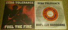 "ZERO TOLERANCE - FUEL THE FIRE  CASSETTE ON 7""  (CLEAR WAX) SXE NYHC SNAPCASE"