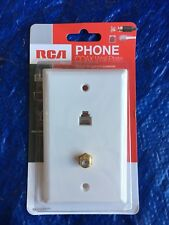 RCA TP062WHR Wall Phone Mount PLATE KIT WHITE NEW SEALED SINGLE JACK COAX PLUG