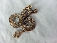 Eastern Dragon Solid Bronze Pendant