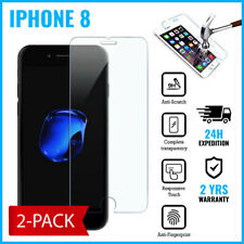 2-PACK Screen Protector LCD Protecteur Real Tempered Glass Film For iPhone 8
