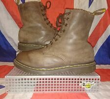 Rare*Serena*Dark Conker Brown Leather Faux Fur Lined Dr Doc Martens*Shearling*6