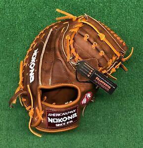 "Nokona Walnut 33.5"" Baseball Catchers Mitt W-3350"