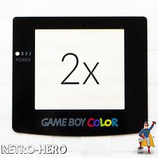 2x Nintendo GameBoy Color Display Scheibe Screen Glas Linse Ersatz GBC Game Boy