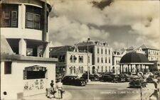 Curacao NWI Brioplein Street Scene Real Photo Postcard