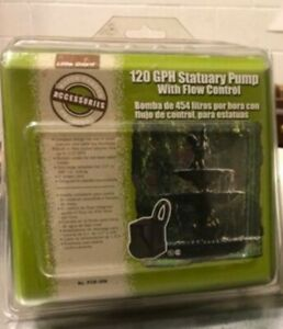 Little Giant 120 GPH Statuary Water Pump Flow ControlPSM-006 Fountains *Sealed*