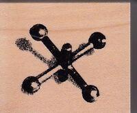 "jacks club scrap Wood Mounted Rubber Stamp 1 1/2 x 1 5/8""  Free Shipping"