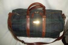 Vintage RALPH LAUREN POLO Green BLACKWATCH Plaid Duffle Tote Overnight Bag