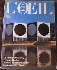 5 L' Oeil Art Magazine French Oct 1963 - June-Jul 1972 - Nov June 75 - Jan Feb76