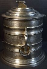 Victorian (English) Silverplate Military (Cannon) Biscuit Barrel