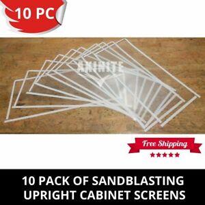 10 Pack of Sandblaster Sandblasting Cabinet Protective Screens For Upright Heavy