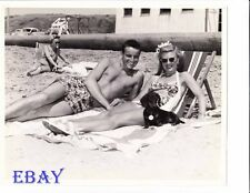 Ginger Rogers Jack Briggs barechested VINTAGE Photo candid