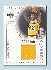 James Worthy 2000 Upper Deck Master Colección Juego Jersey/300 Lakers