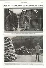 1916 Italian Guns On The Trentino Front Concrete Base Hillside