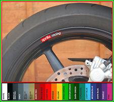 8 X Aprilia Racing Rueda Llanta Calcomanías Stickers-Rsv Mille R Tuono Rsv4 Shiver