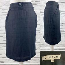 JIGSAW Grey Pencil Skirt Size 10 Knee Length Smart Work Career