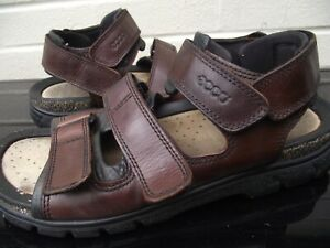 ECCO. Brown Leather Beach Rock Hiking Sandals. EU 43 Size 9 to 9.5