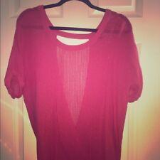 58d5b81e045a4 Torrid Plus-Size Hot Pink Open-Back Short Sleeve Shirt Size 3