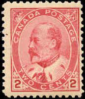 1903 Mint NH Canada F+ Scott #90 2c King Edward VII Issue Stamp