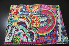 Indian Kantha Quilt Handmade Kantha Bedspread Throw Cotton Blanket Twin Gudari