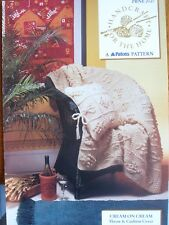 "PBNE 2127- ARAN THROW & CUSHION COVER KNITTING PATTERN - ""CREAM ON CREAM"""