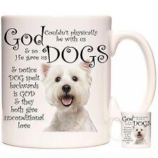 God Gave Us Dogs West Highland Terrier Mug, Super Cute Westie gift coffee mug