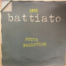 Franco Battiato ‎– 1972 Fetus / Pollution LP VINILE 33 Giri ITALY 1979 ORL 8127