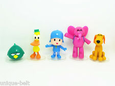 Set of 5 pcs PVC New Pocoyo ELLY PATO Loula Sleepy bird Action figures Toy