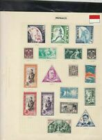 monaco stamps page ref 17337
