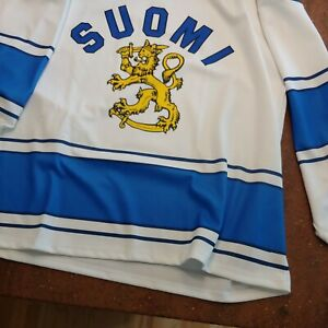 Suomi Finland Hockey Jersey 100% polyester XX-Large.  great shape. 😎 very cool