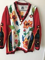 Storybook Knits Sweater Graphic Design Colors CHRISTMAS GIFT Cardigan