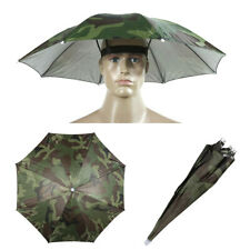 Camouflage Kids Children Foldable Umbrella Hat Headwear Cap Camping