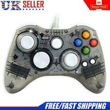 NUOVO Glow Black controller USB cablato per MICROSOFT XBOX 360 Windows PC Laptop UK