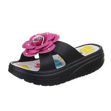 Markenlose Damen-Sandalen & -Badeschuhe aus Gummi für Mittlerer Absatz (3-5 cm) und Strand