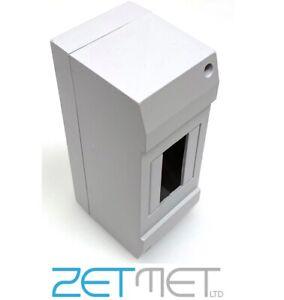 2 Module Empty Plastic PVC Enclosure Box MCB RCD Contactor DIN Rail Housing Unit