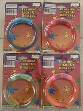 4 Pack Flashing Light-Up Bracelets Party Favors - Need New Batteries