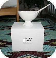 NEW in Box Diane Von Furstenburg DVF Sea Salt White Pebblestone Dessert Bowl