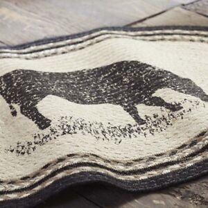 "VHC Brands Farmhouse 20""x30"" Cow Accent Rug White Stenciled Sawyer Floor Decor"