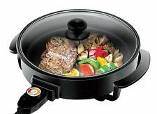 Indoor Electric Skillet Frying Pan Temp Control Non Stick Chefman RJ05-12-RO-AM