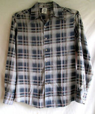 VTG...KENNINGTON...PLAID...DISCO / HIPPIE...SHIRT...sz MEDIUM